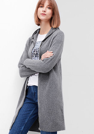 Long cardigan with a hood from s.Oliver