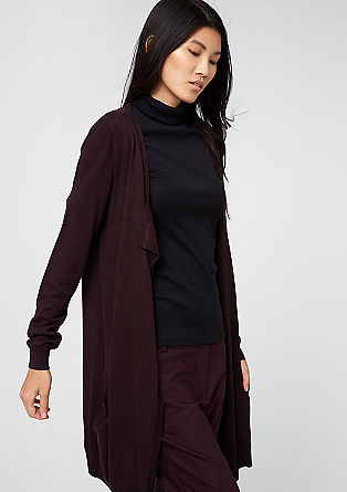 Long cardigan with a percentage of wool from s.Oliver