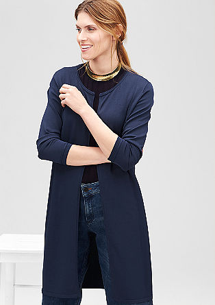 Long cardigan with a rolled hem from s.Oliver