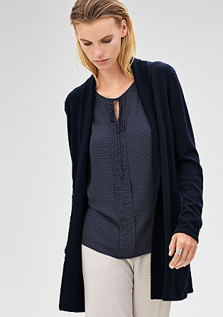 Long cardigan with decorative stitching from s.Oliver