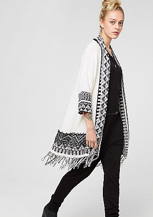 Long cardigan with fringing from s.Oliver
