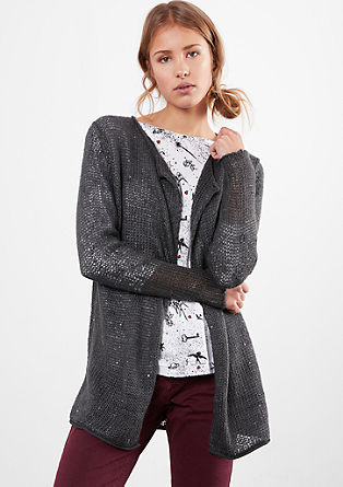 Long cardigan with glitter effects from s.Oliver