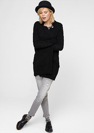 Long cardigan with mohair from s.Oliver