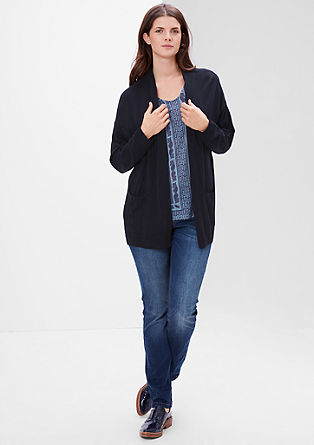 Long cardigan with pockets from s.Oliver