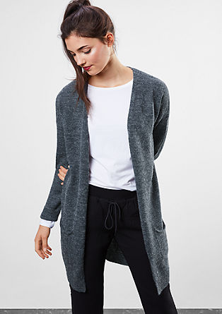 Long fine knit melange cardigan from s.Oliver