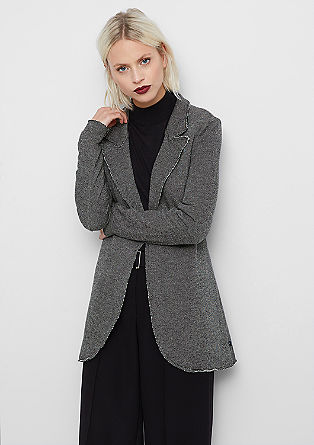 Long jersey blazer from s.Oliver