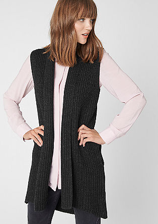 Long knitted waistcoat from s.Oliver