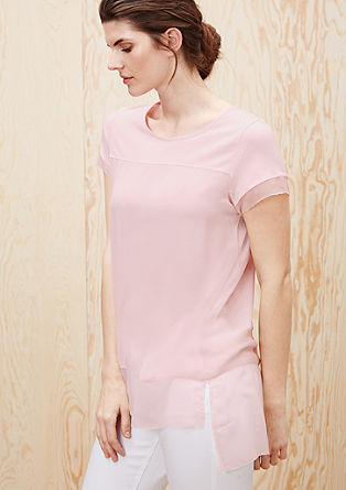 Long mullet-style blouse top from s.Oliver