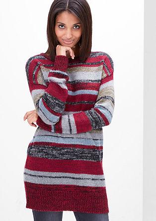 Long-Pullover mit Ringeln