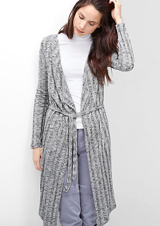 Long rib knit cardigan from s.Oliver