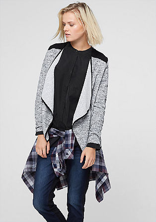 Long sleeve lurex top in a cardigan style from s.Oliver