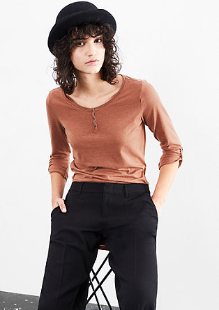 Long sleeve melange top from s.Oliver