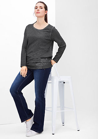 Long sleeve top in a glamorous layered look from s.Oliver