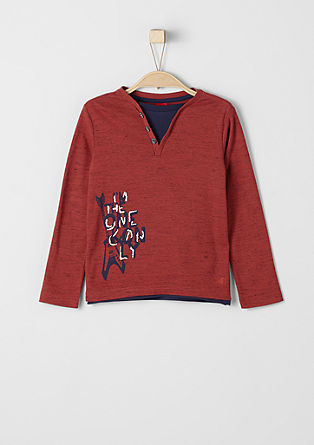 Long sleeve top in a layered look from s.Oliver