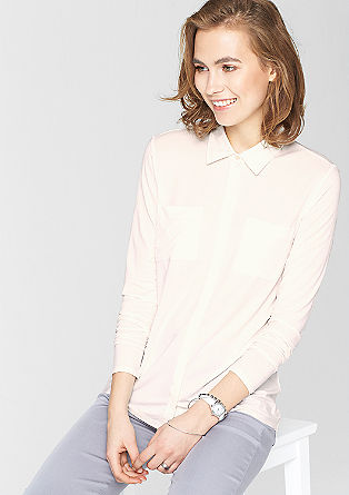 Long sleeve top in a shirt-blouse style from s.Oliver