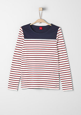 Long sleeve top in a striped look from s.Oliver