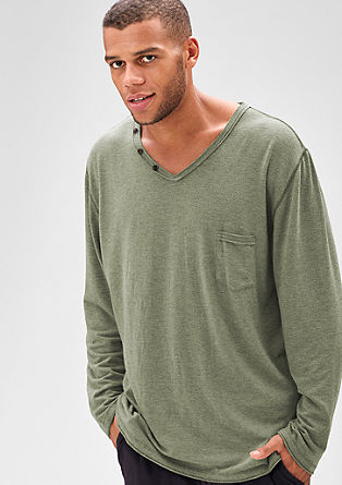 Long sleeve top in a vintage look from s.Oliver