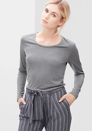 Long sleeve top in blended viscose from s.Oliver