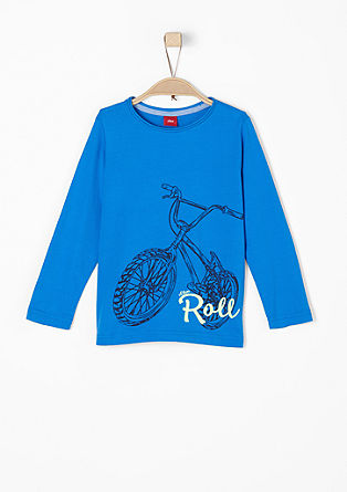 Long sleeve top with a biker print from s.Oliver