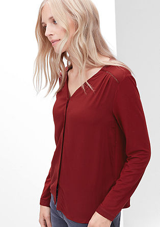 Long sleeve top with a blouse front from s.Oliver