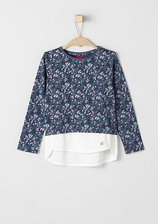 Long sleeve top with a blouse hem from s.Oliver