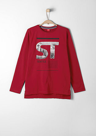 Long sleeve top with a city motif from s.Oliver