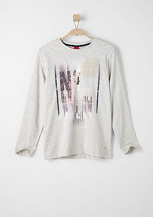 Long sleeve top with a collage print from s.Oliver