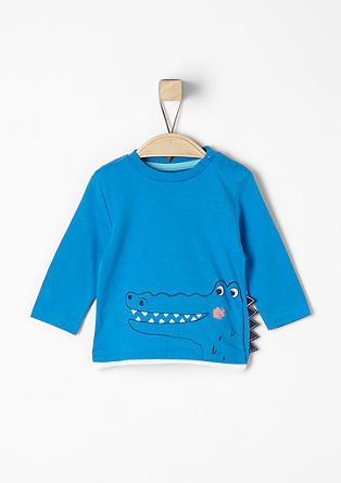 Long sleeve top with a crocodile motif from s.Oliver