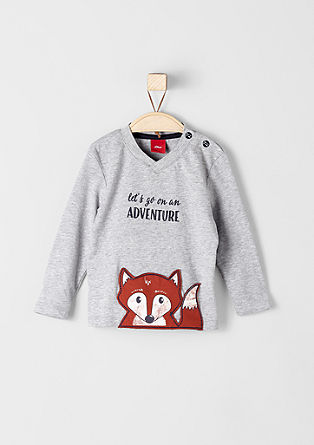 Long sleeve top with a fox appliqué from s.Oliver