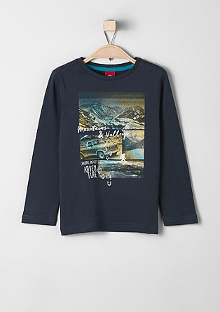 Long sleeve top with a front print from s.Oliver