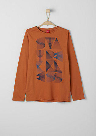 Long sleeve top with a geometric print from s.Oliver