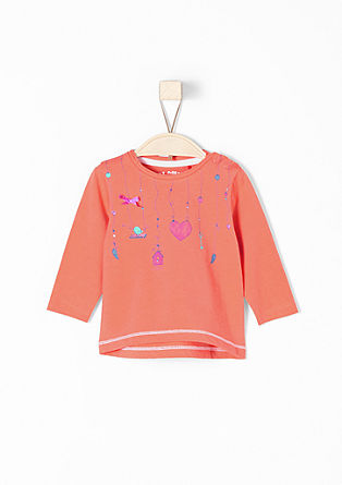 Long sleeve top with a glitter print from s.Oliver