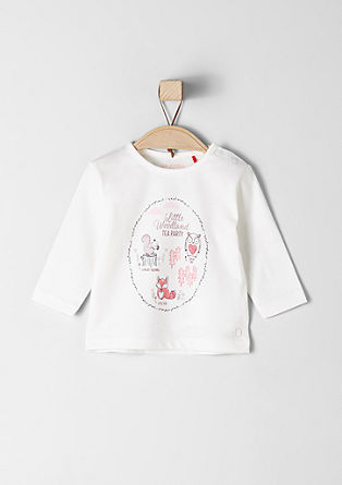 Long sleeve top with a glittery illustration from s.Oliver