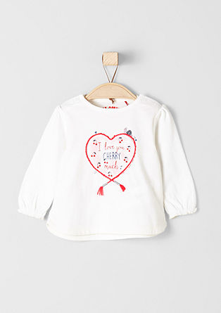 Long sleeve top with a heart motif from s.Oliver