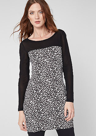 Long sleeve top with a leopard pattern from s.Oliver