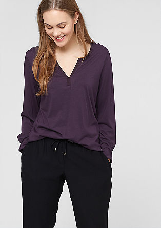 Long sleeve top with a notch neckline from s.Oliver
