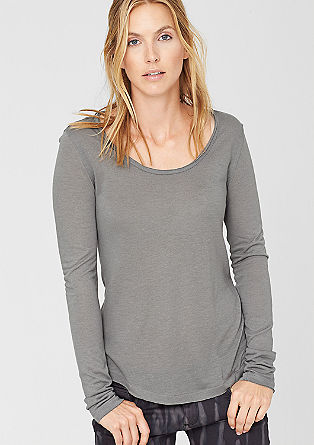 Long sleeve top with a percentage of cashmere from s.Oliver