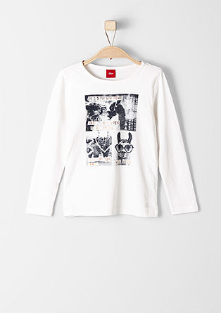Long sleeve top with a photo print collage from s.Oliver