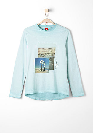 Long sleeve top with a photo print from s.Oliver