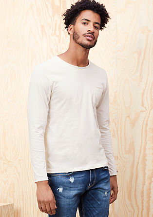 Long sleeve top with a pigment dye from s.Oliver