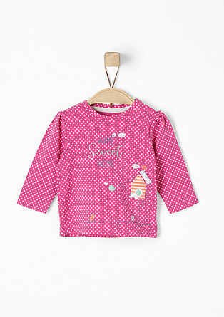 Long sleeve top with a polka dot design from s.Oliver