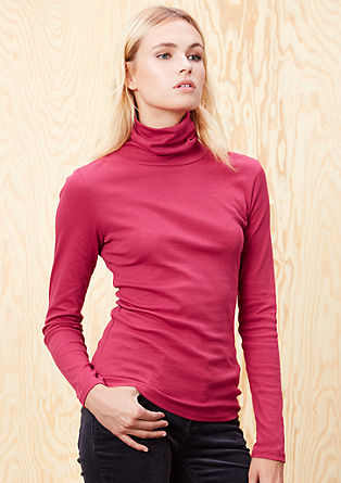 Long sleeve top with a polo neck from s.Oliver