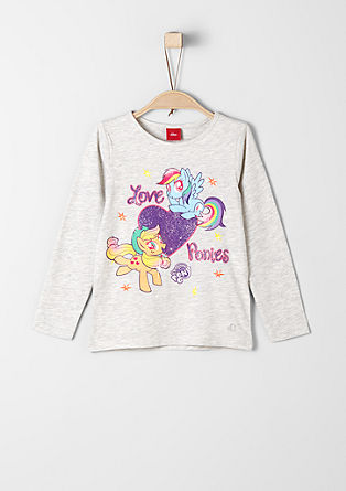 Long sleeve top with a pony print from s.Oliver