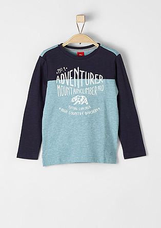 Long sleeve top with a print and embroidery from s.Oliver