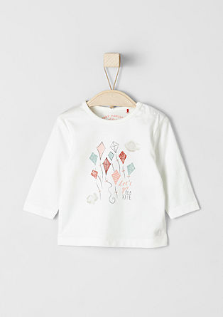 Long sleeve top with a print from s.Oliver