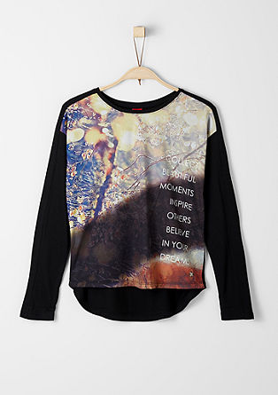Long sleeve top with a printed front from s.Oliver