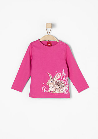 Long sleeve top with a rabbit motif from s.Oliver