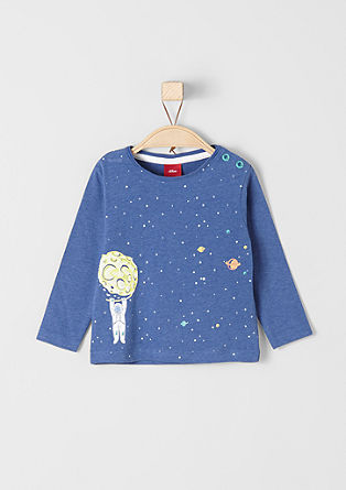 Long sleeve top with a space motif from s.Oliver