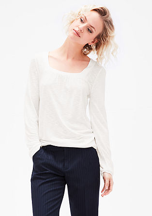 Long sleeve top with a square neckline from s.Oliver