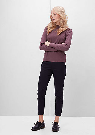 Long sleeve top with a stand-up collar from s.Oliver